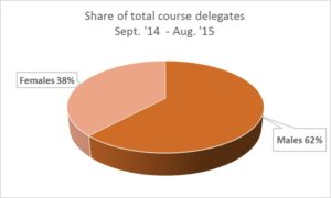 Pie chart graph in rust colour