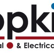 J & B Hopkins logo black, red and blue