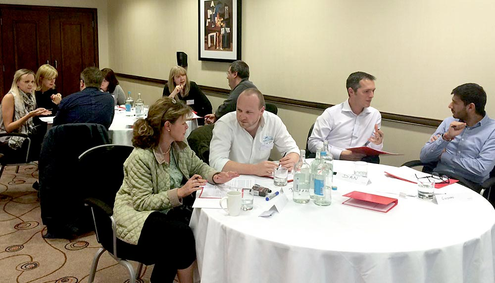 Organisational Leadership Skills – Delegates interacting with one another on the Impellus' two-day Organisational Leadership Skills training course