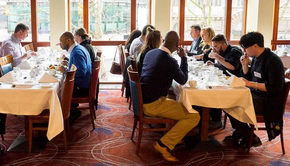 Impellus Management Training Delegates at Grange Hotel London Restaurant