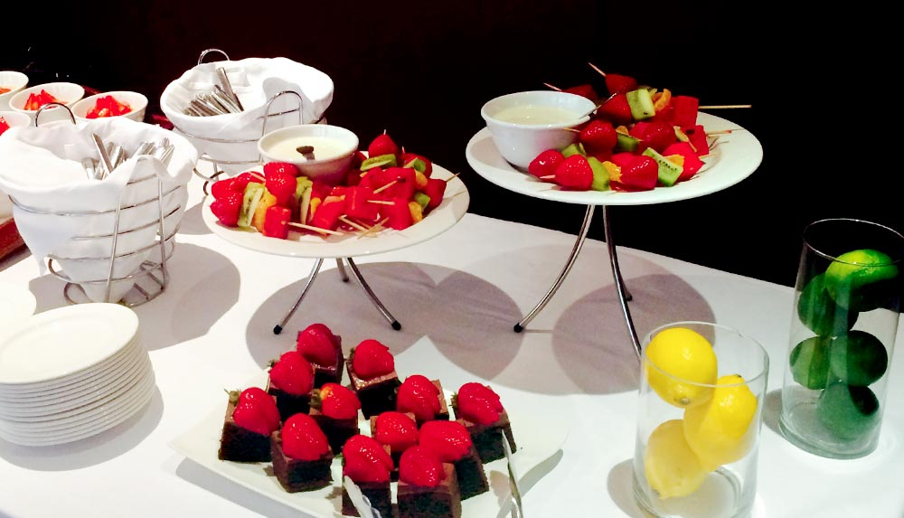 Desserts for management training delegates in Edinburgh