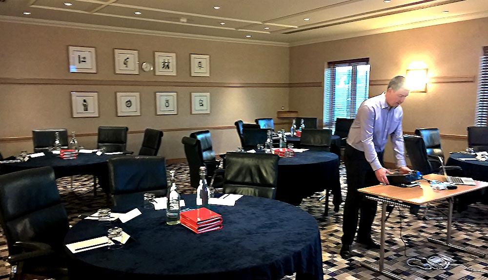 Leeds management training meeting room