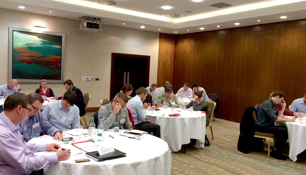Management training delegates in Edinburgh