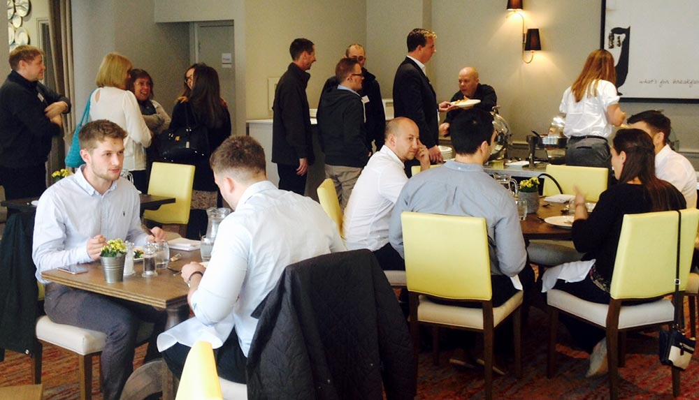 Management training delegates in The Acorn Restaurant in Bristol