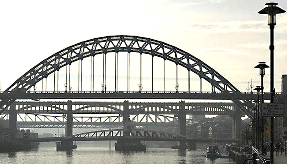 Newcastle Bridges across The Tyne